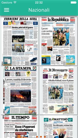 Prime Pagine dei giornali