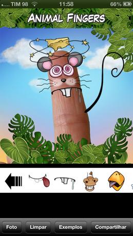 《动物的手指 - 创建有趣的动物脸
