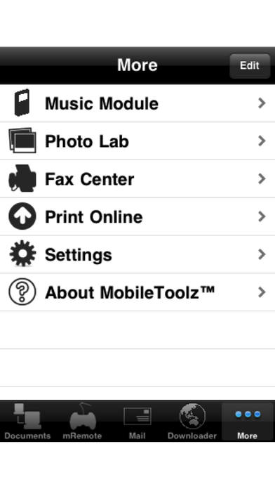 MobileToolz™ (Print, Fax, Scan, use ext. Keyboard, Mobile Presentations, +More) iPhone Screenshot 4