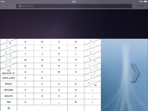 EZ ONE-HAND KEYBOARD 1.0 - Easy One-Handed Text Entry for the iPad Image