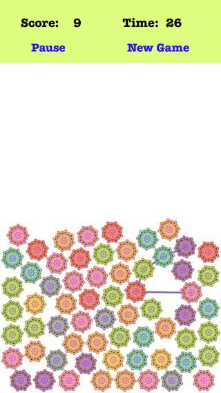 Gravity Petal - Connect The Different Color Petals
