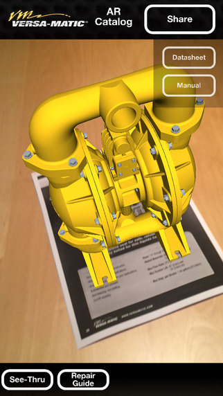 Versa-Matic Pump Augmented Reality Catalog