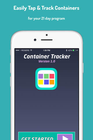 21 Day Container Tracker - Track Your Twenty One Days Fitness Challenge screen