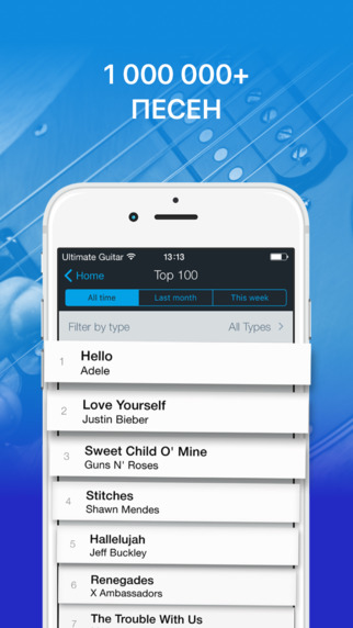 Tabs & Chords by Ultimate Guitar - Learn and play acoustic guitar, bass and ukulele Screenshot