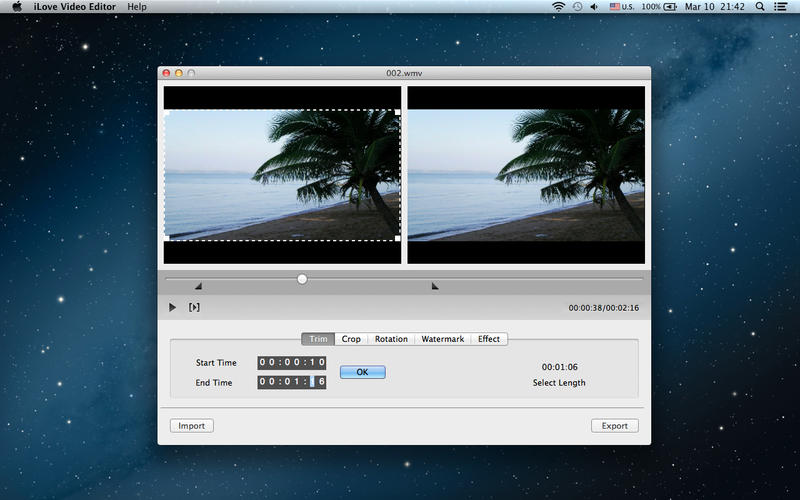 iLove Video Editor Screenshot - 1