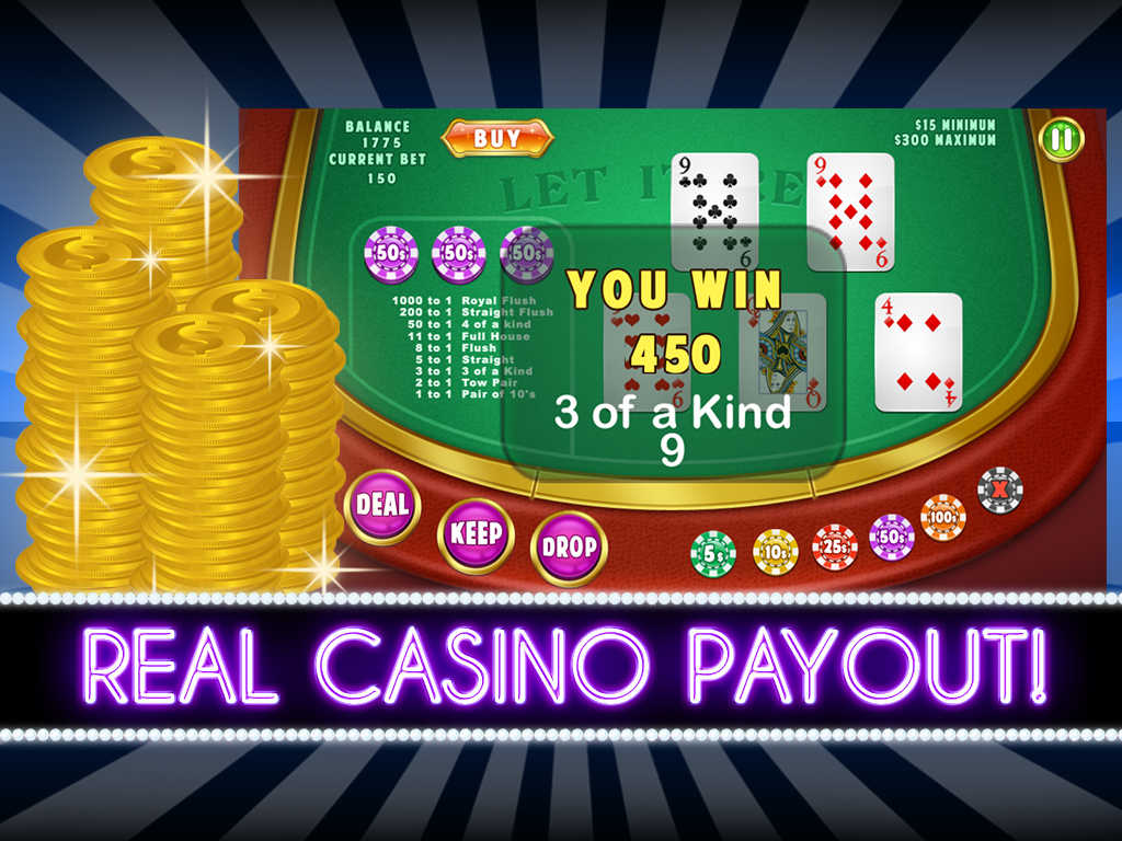 let it ride poker game new payouts screens