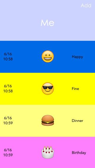YasMood - Record Moods and Activities Using Emojis