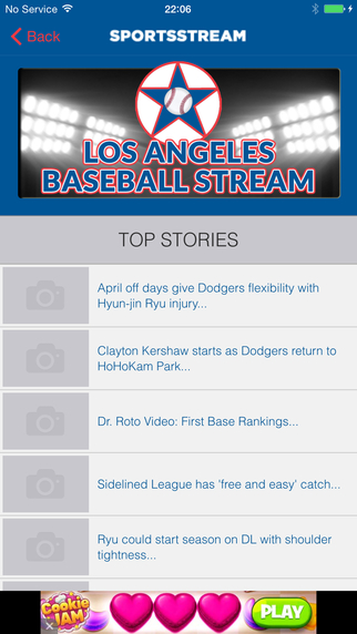 LOS ANGELES BASEBALL STREAM LAD