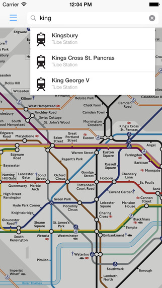 London Tube Live - Underground Map Exits Status Route Planner