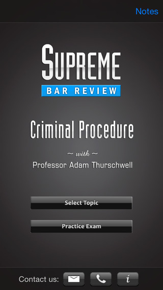Criminal Procedure: Supreme Bar Review iPhone Screenshot 1