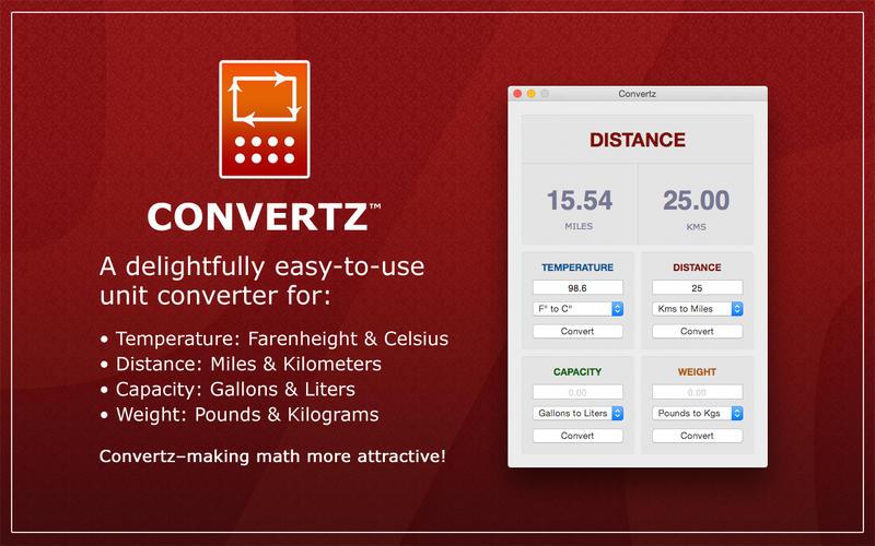 Convertz - 单位转换工具[OS X]丨反斗限免