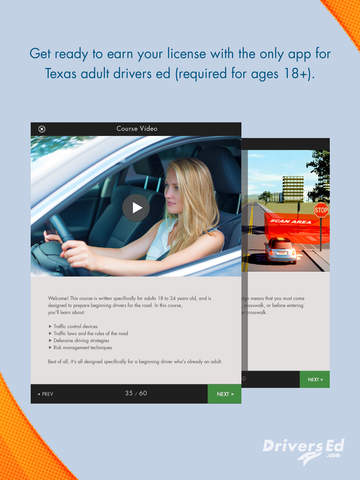 texas adult drivers ed earn your license app app. Black Bedroom Furniture Sets. Home Design Ideas