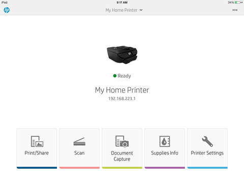 Screenshot 1 HP All-in-One Printer Remote