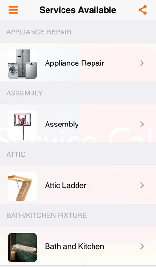 service call home repair list app download android apk