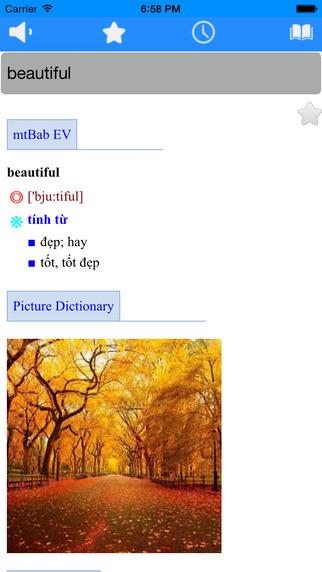 Vietnamese best dictionary free with sound offline translator wordbook pronunciation