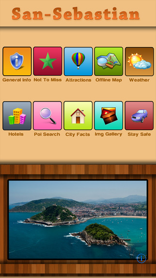San Sebastian Offline Map City Guide