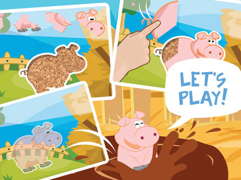 Petting farmland fun drag n drop jigsaw puzzle with lovable farm animals and matching in the barnyardscreeshot 5
