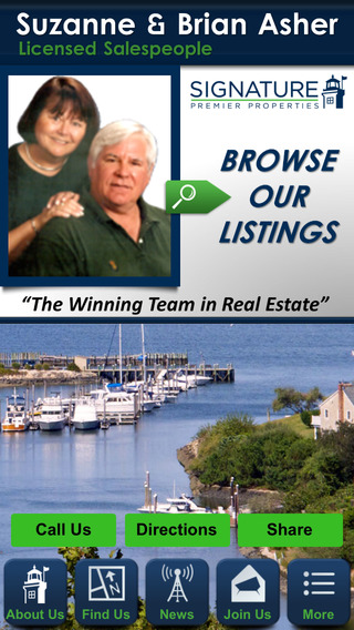Suzanne and Brian Asher of Signature Premier Properties