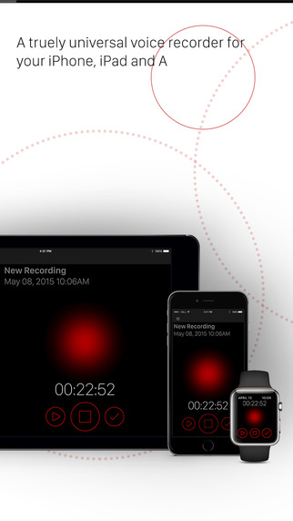 Crafty Voice Memos for iPad iPhone and the Apple Watch
