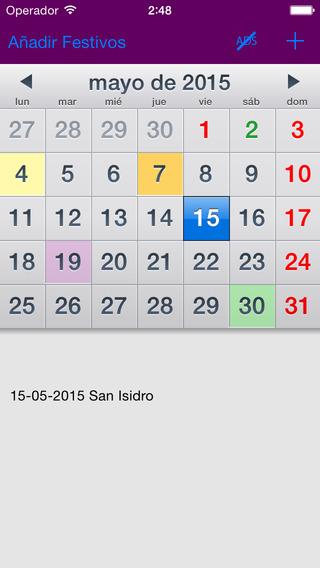 Calendario Laboral España 2015