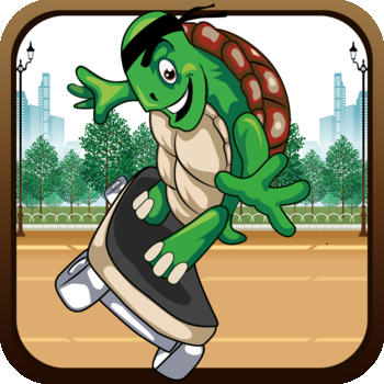 Turtle Skateboarder Super Run - City Action Obstacle Survival Game Paid 遊戲 App LOGO-硬是要APP