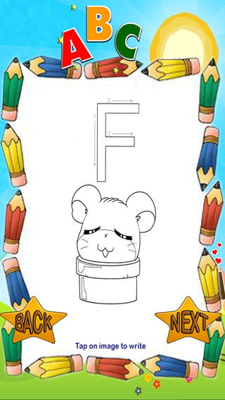 ABCs Big Letter Coloring for Hamtaro Version