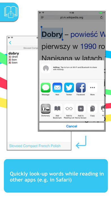 French <-> Polish Talking SlovoEd Compact Dictionary iPhone Screenshot 3