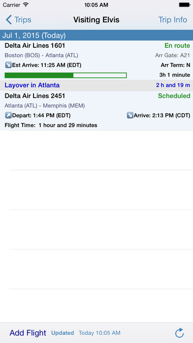 Flight Update Pro - Live Flight Status, Alerts + Trip Sync iPhone Screenshot 2