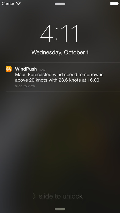 WindPush - Wind Forecast Notifier Screenshots