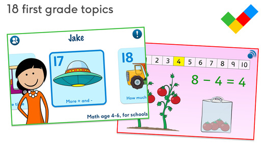 Math age 4-6 for schools