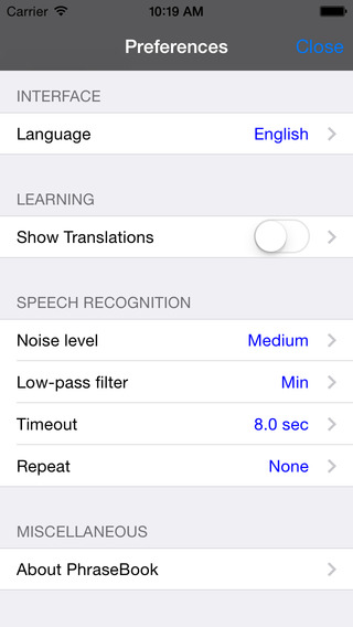 Spanish-Chinese Cantonese Romanized Talking Travel Phrasebook iPhone Screenshot 4