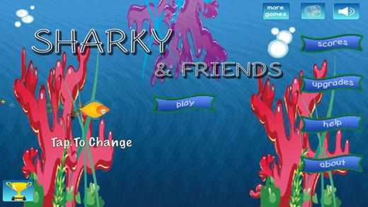 Sharky Friends' Endless Water Flyer Game
