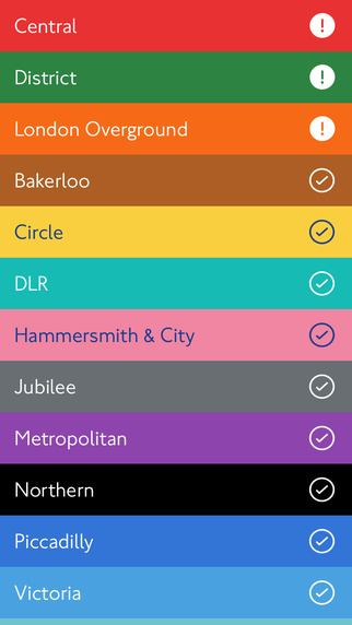 Lines - tube status