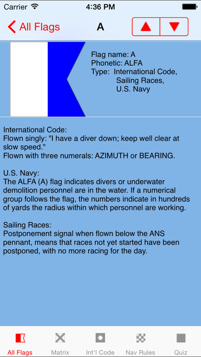Signal Flags iPhone Screenshot 2