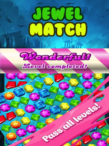 Jewel Match Fun HD-The Best Match 3  Puzzle game for kids and girls