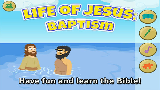Life of Jesus: Baptism - Bible Story Coloring Singing and Puzzles for Kids
