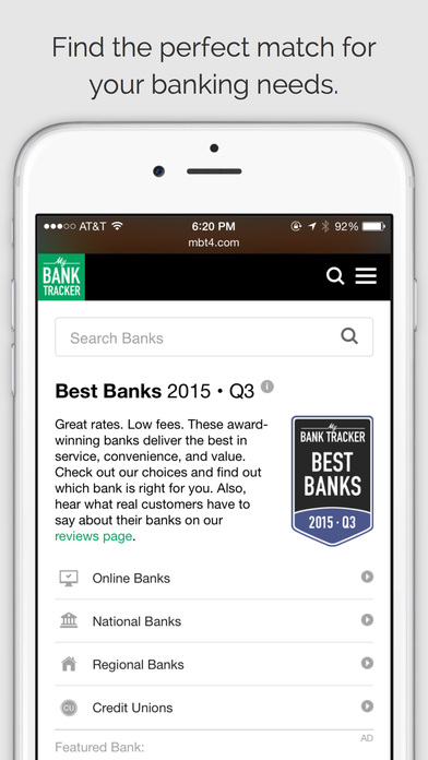 Bank Tracker iPhone Screenshot 2
