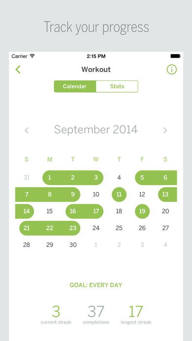 Habit List - Create good habits, break bad ones, build a better you screenshot