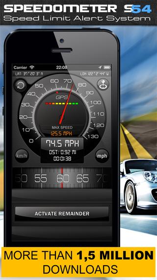 Speedometer s54 Free Speed Limit Alert System