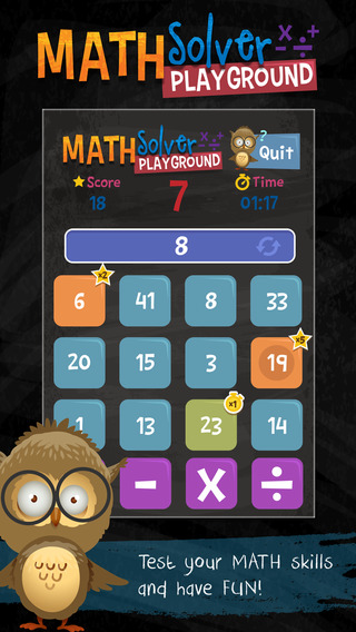 Math Solver Playground – Free Addition Subtraction Division Multiplication Brain-Wars Lite Training