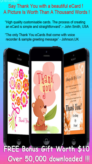 Thank You Cards Maker - Customise and send Thank You eCards with beautiful pictures photo editor bes