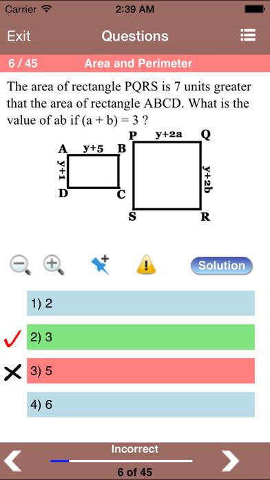 6 ACT Practice Tests (Math) iPhone Screenshot 2