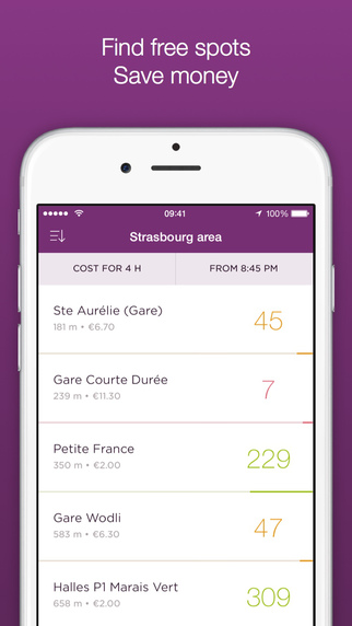 Parkings App - Real time parking lot tracker parking cost calculator