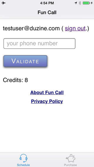 Fun Call - automatic phone calls on demand or on a schedule