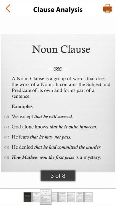 Grammar Express: Clause Analysis iPhone Screenshot 2