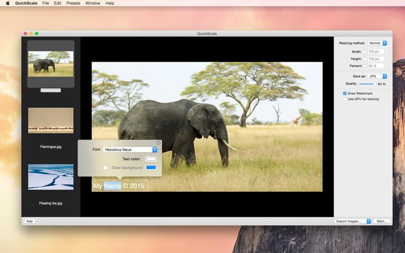 QuickScale - 图片大小尺寸修改工具[OS X]丨反斗限免