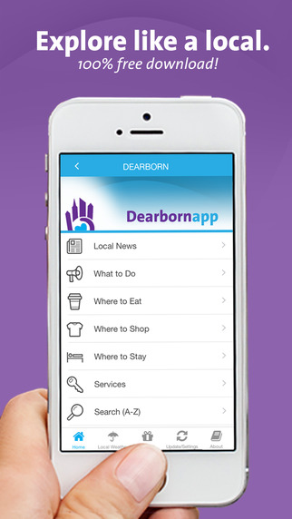 Dearborn App – Michigan – Local Business Travel Guide
