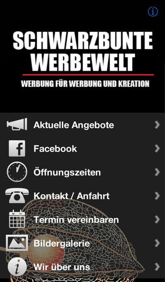Schwarzbunte Werbewelt