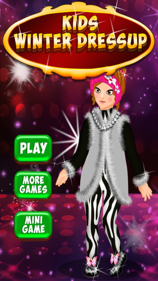 Kids Winter Dress Up - Crazy shopping and beauty salon game for stylish girls