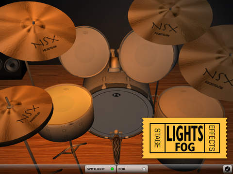 3D Drum Kit iPad Screenshot 3